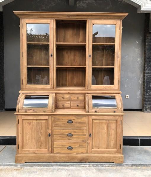 Landhaus Teak Holz Buffetschrank BASTIAAN 165 cm Küchenschrank
