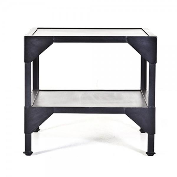 Beistelltisch Anstelltisch Nozare 50 x 50 cm Tisch Kaffeetisch Metall schwarz