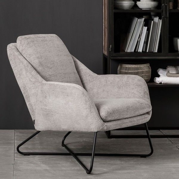 MUST LIVING Sessel Dream Chenille Samt taupe Loungesessel