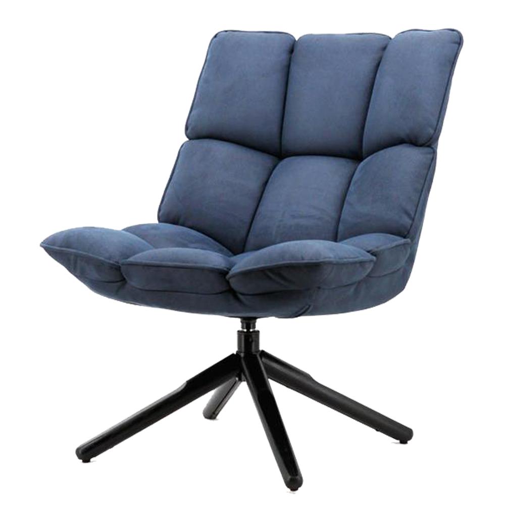 vintage sessel relaxsessel daan blau loungesessel. Black Bedroom Furniture Sets. Home Design Ideas