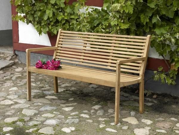 3-Sitzer Teakholz Gartenbank CANBERRA 140 cm