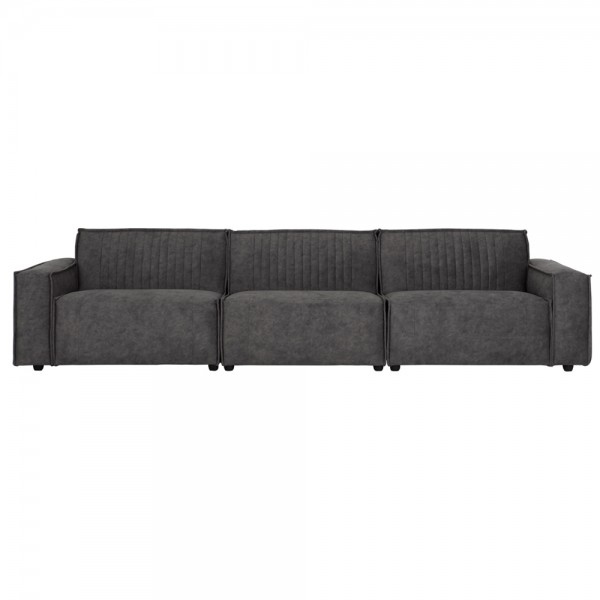 MUST LIVING Sofa Rally 308 cm anthrazit Couchgarnitur