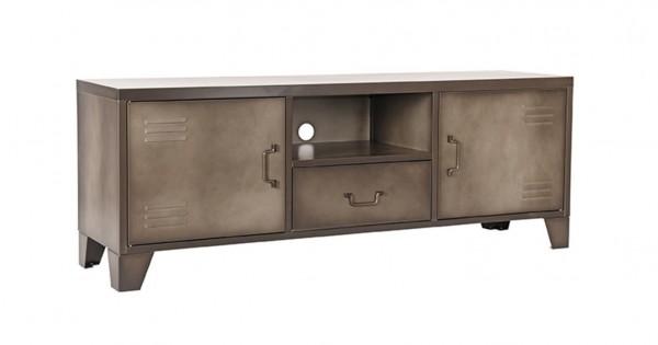 Industrie Vintage TV Möbel Mas 150 cm Metall grau Lowboard