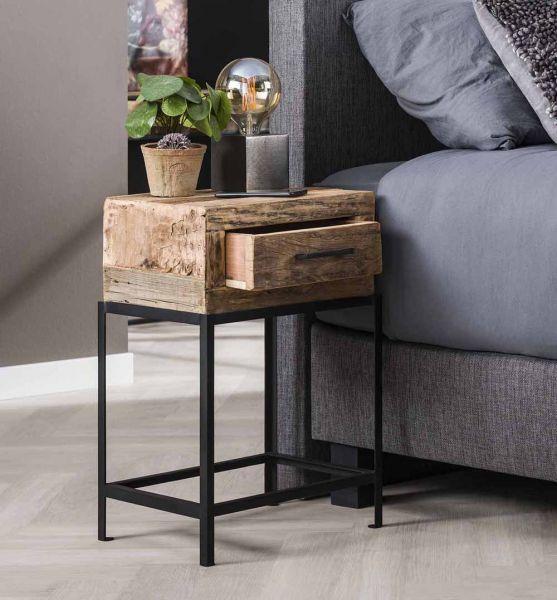 Nachttisch Loft recyceltes Holz Nachtkonsole