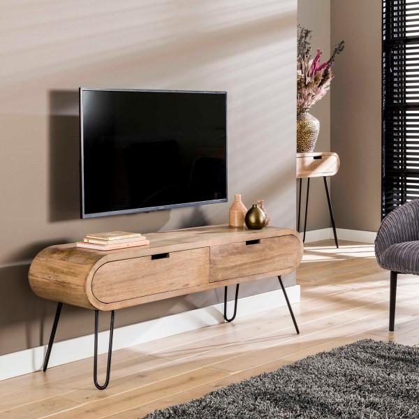 TV Möbel Board BALOU 135 cm Lowboard Mango massiv