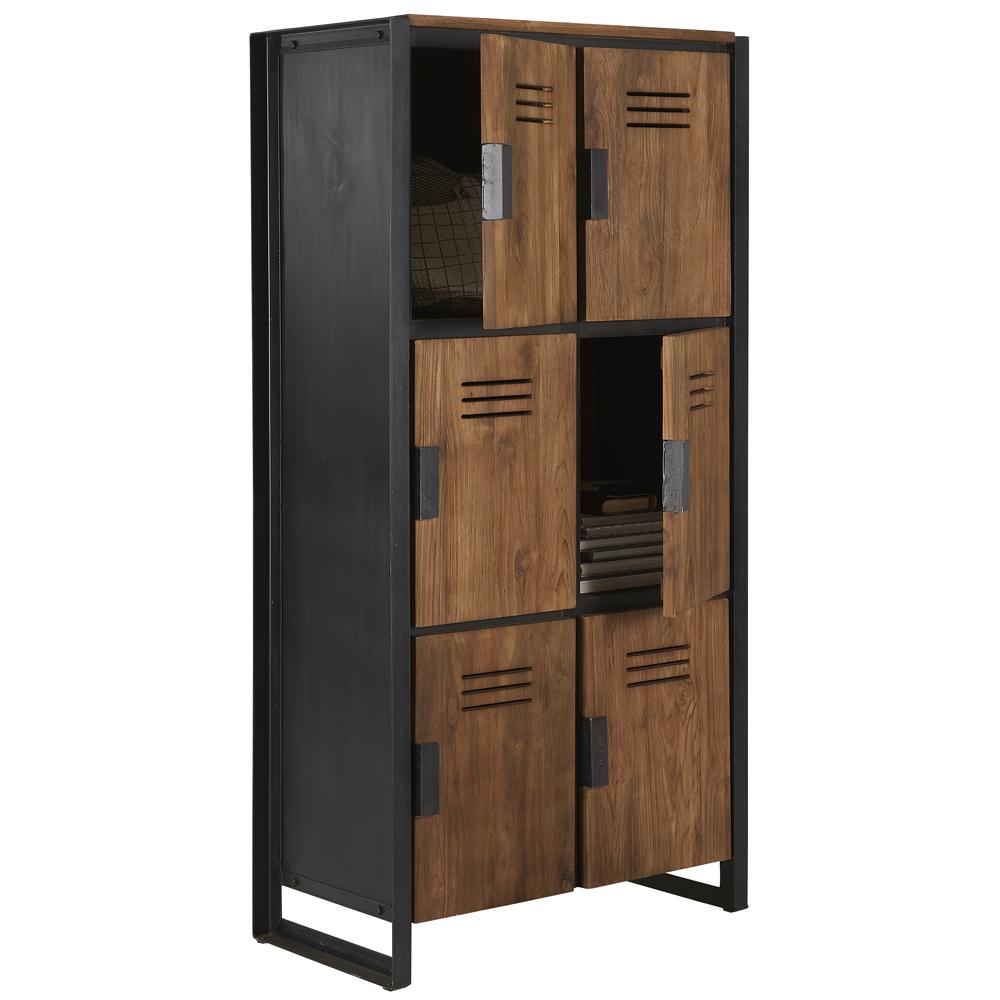 Schrank Fendy H 160 Cm Metall Holz Wandschrank Aufbewahrung