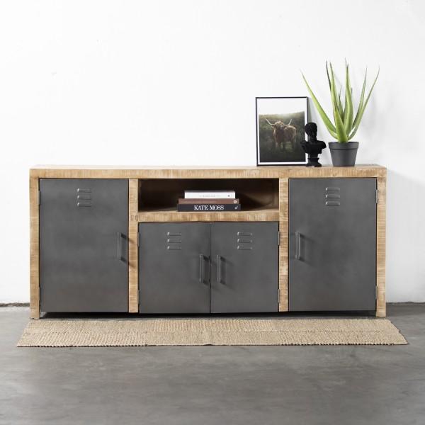 GIGA Kommode Ethan 200 cm Holz Metall Sideboard