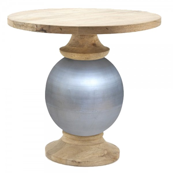 Beistelltisch Bistrotisch Bollywood Ø 60 cm Tisch Kaffeetisch Massivholz Metall