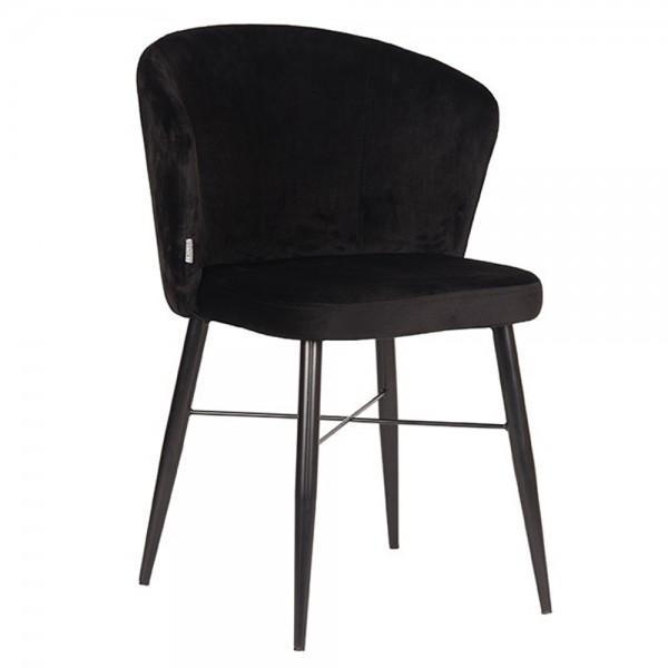 Esszimmerstuhl Wave schwarz Velvet Samt Stuhl Esstischstuhl Esszimmer