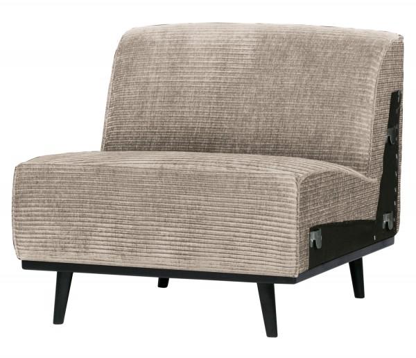 BePureHome Erweiterungselement 79 cm für 4 Sitzer Sofa Statement Rib Cord lehmfarben