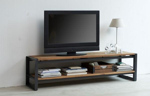 d-Bodhi TV Möbel Fendy 220 cm Teakholz Metall Lowboard