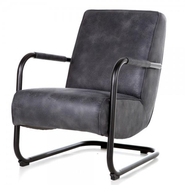 Armlehnensessel PIEN Vintage blau Relaxsessel Fernsehsessel Lounge Sessel