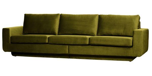 BePureHome 3 Sitzer Sofa Fame 282 cm Samt Velvet olive Couch
