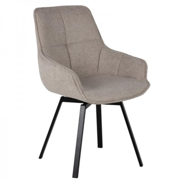Esstischstuhl Stuhl drehbar Shannon Stoffbezug beige