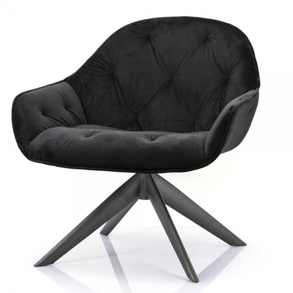 Sessel Joy drehbar Samt schwarz