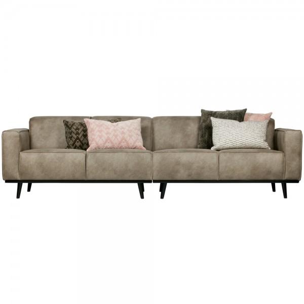 4 Sitzer Sofa STATEMENT Elefantenhaut grau Couch Garnitur Couchgarnitur