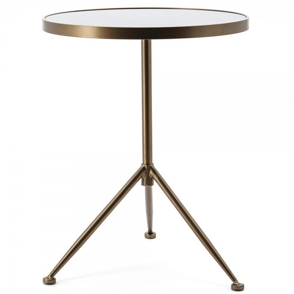 Beistelltisch Nebula Ø 50 cm Anstelltisch Sofatisch Tisch Metall Glas Couchtisch