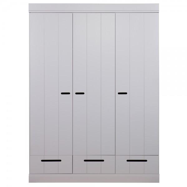 Kleiderschrank System CONNECT BASIC Kiefer 3 Türen + 3 Schubladen grau