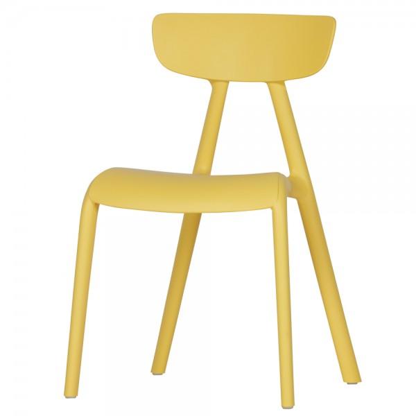 Kinderstuhl WISSE Kinderhocker Stuhl Stühle Kindermöbel Kunststoff gelb