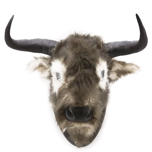 Wand Ochsenkopf BOUNCER Ochse Hörner Kopf Tierkopf Stier Deko Bulle Rind Schädel