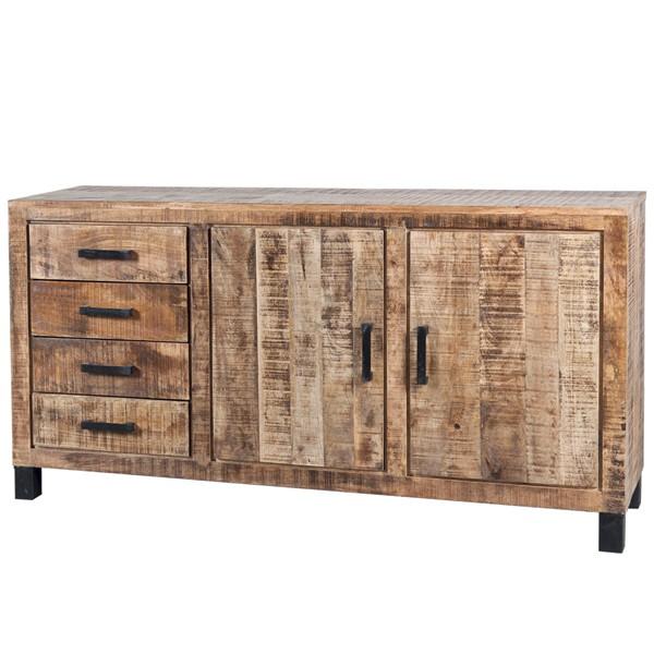 Vintage Landhaus Sideboard 4 Schubladen Holzschrank Aufbewahrungsschrank