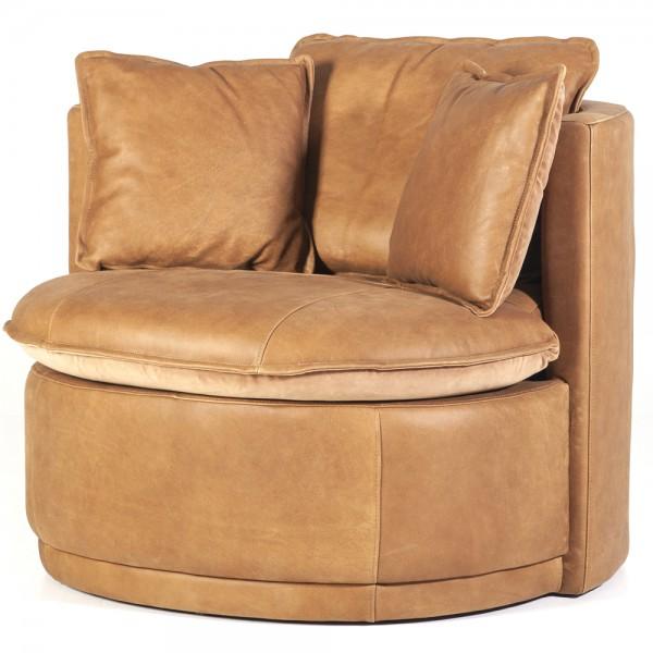 Lounge Chair Julia Leder cognac Sessel