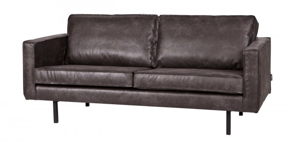 2,5 Sitzer Sofa RODEO Leder Vintage schwarz
