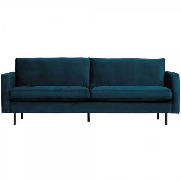 BePure 2,5 Sitzer Sofa Rodeo Classic Samt blau