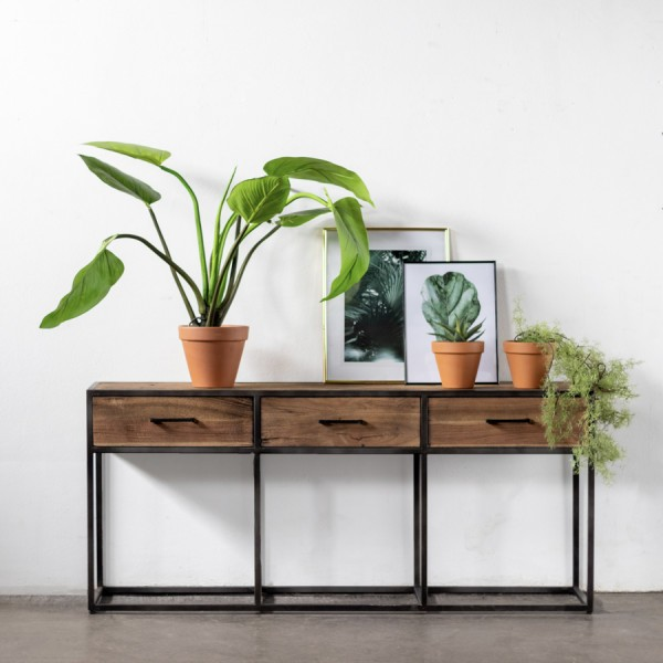 Industrie Sideboard Konsole Sienna B 160 cm Holz Metall