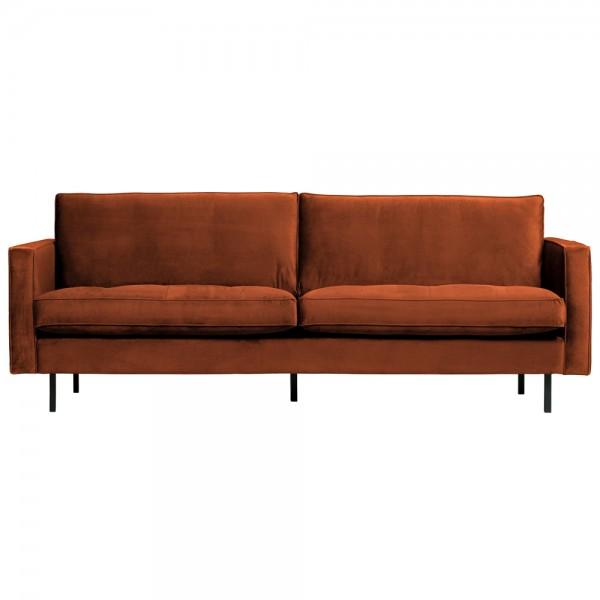 2,5 Sitzer Sofa Rodeo Classic Samt rostfarben Couch Loungesofa Couchgarnitur