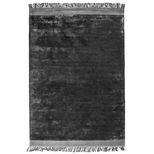 Vintage Wohnzimmer Teppich Peshi 160 x 230 cm anthrazit Teppiche Carpet Shabby Look Landhaus Fransen