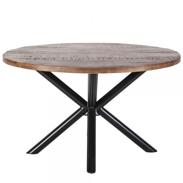 Vintage Esstisch Ø 130 cm Mango Holz rund Tisch