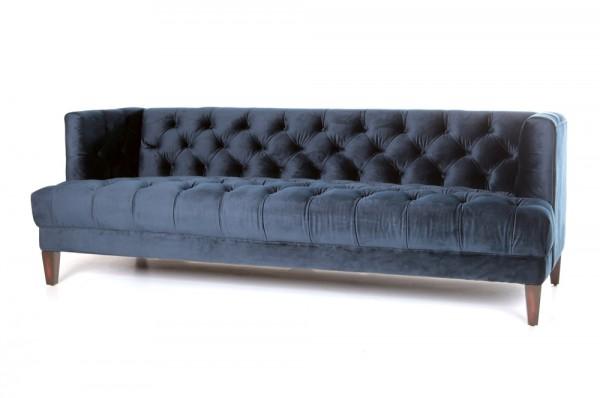 3-Sitzer Sofa VOGUE blau Samt Velour Couch Samtsofa-