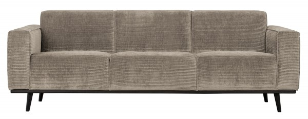 BePureHome 3 Sitzer Sofa Statement Rib Cord lehmfarben Couch