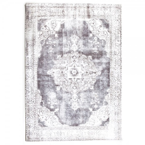 Wohnzimmer Vintage Teppich Florence Ornament Muster Teppiche Carpet grau