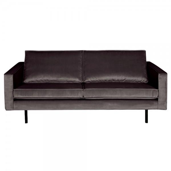 2,5 Sitzer Sofa Rodeo Samt anthrazit Couch Garnitur Samtsofa Couchgarnitur
