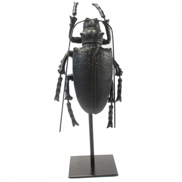 Tisch Deko Figur Abbey Two Käfer Tischdeko Skulptur Standfigur Shabby schwarz