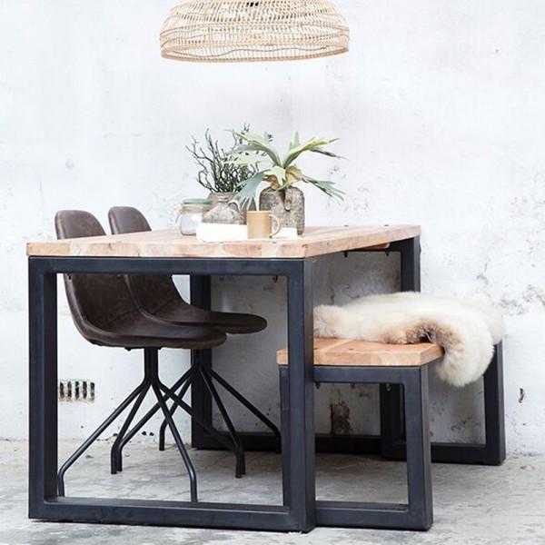 Industrie Design Esstisch Jack 240 x 100 cm recycltes Holz