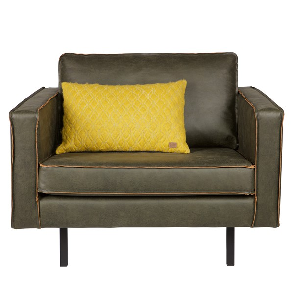 BePureHome Sessel Sofa RODEO Leder army grün