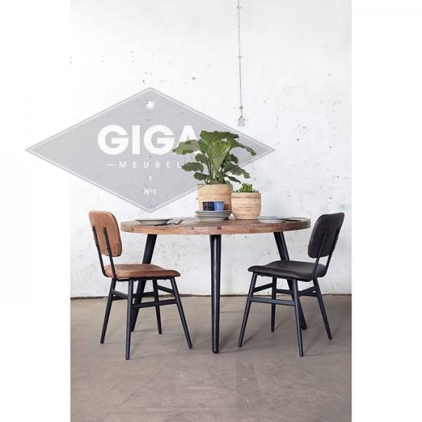 Industrie Esstisch Buck Ø 150 cm Esszimmertisch rund Tisch Tischbeine Metall