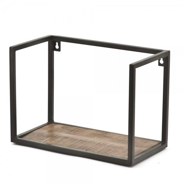 Wandregal Stand Off 35 cm breit Metall Massivholz Ablageregal Aufbewahrung Regal