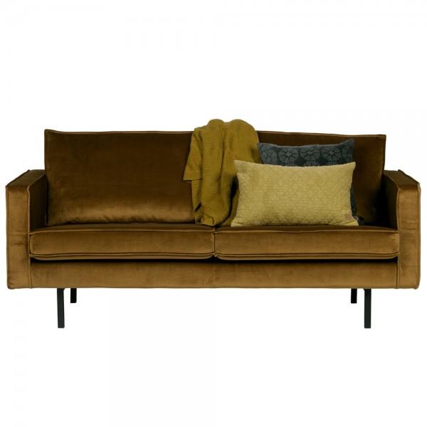 2,5 Sitzer Sofa RODEO Samt honiggelb Couch Loungesofa Garnitur Couchgarnitur