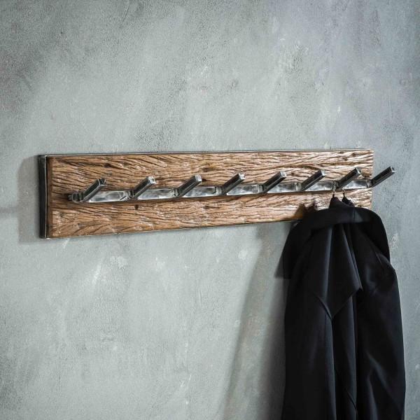 Wandgarderobenhaken Grained 90 cm 8 Haken Metall Hängegarderobe Garderobe