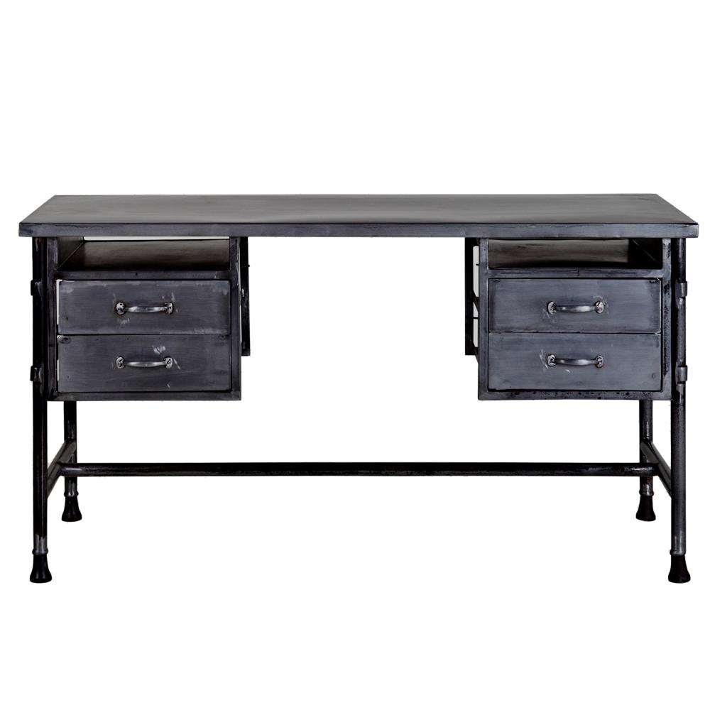 Vintage Sekretär Schreibtisch Metall Computertisch Arbeitstisch
