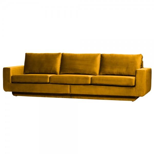 be pure 3 Sitzer Sofa Fame 282 cm Samt Velvet ocker Couch