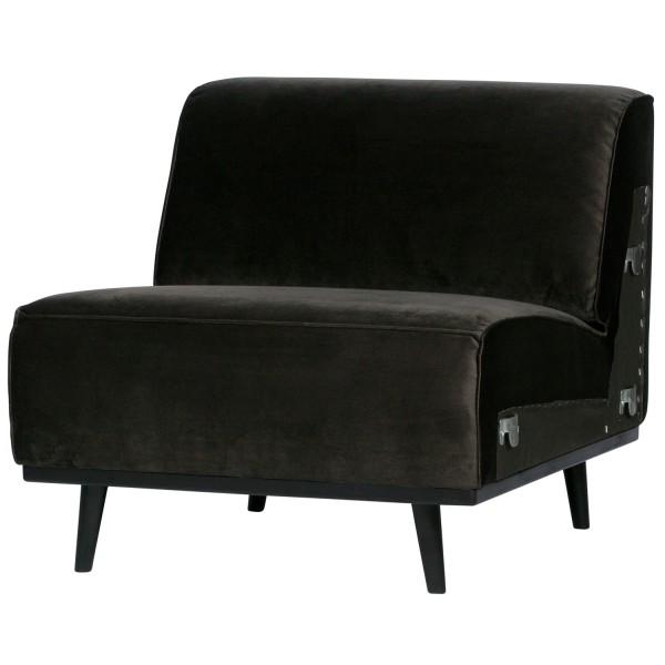 BePureHome 1 Sitzer Sessel Element Erweiterung Statement Samt warmgrün