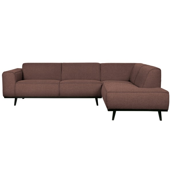 BePureHome Ecksofa Statement Bouclé coffee Longchair rechts