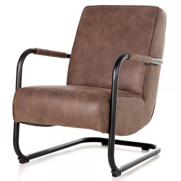 Armlehnensessel PIEN Vintage braun Relaxsessel Fernsehsessel Lounge Sessel