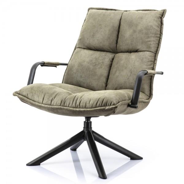 Lounge Chair drehbar Sessel Armlehnsessel Mitchell grün Fernsehsessel