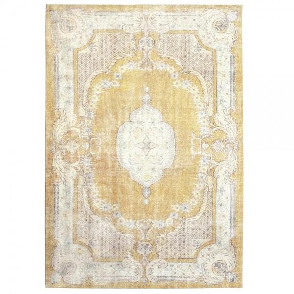 Vintage Teppich Mila 160 x 230 cm gelb Oriental Persisch Muster Carpet klassisch orientalisch